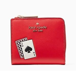 Kate spade lucky draw small l-zip bifold wallet
